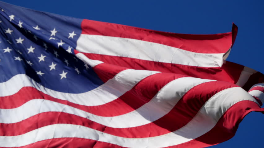 Flag USA 03 - HD stock footage clip