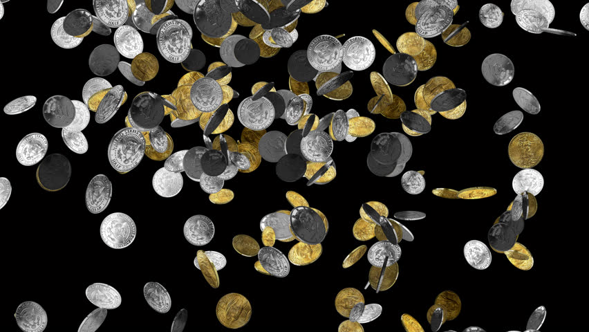 gold coins black background - photo #2