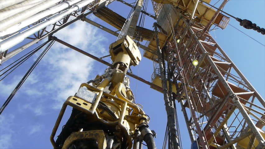 shale gas drilling (time lapse) stock footage