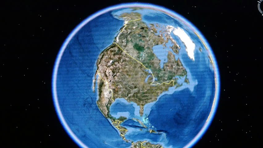 Touch globe gps map on ipad,drag to American United States. gh2_01197 | Shutterstock HD Video #6445862