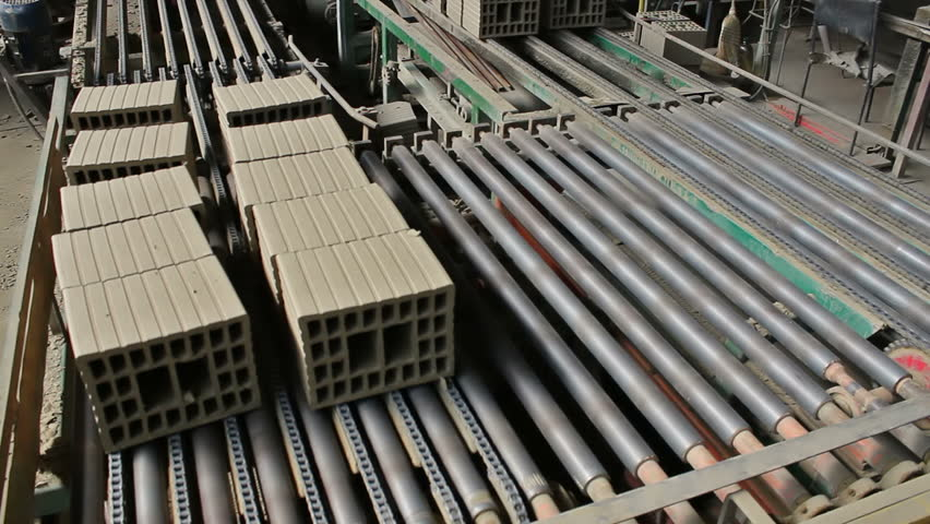 Building blocks for construction  ; Factory for the production of blocks in the construction industry,video clip - HD stock video clip