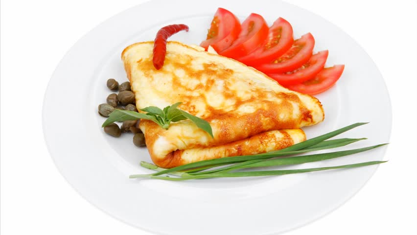 omelette with tomatoes and pepper served plate 1920x1080 intro motion slow hidef hd