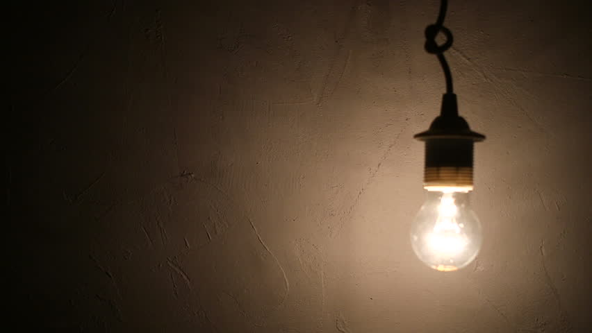 Jeff Wall Light Bulb Room : Abstract Swinging Light Bulb In Dark Room Stock Footage Video 3853541 - Shutterstock