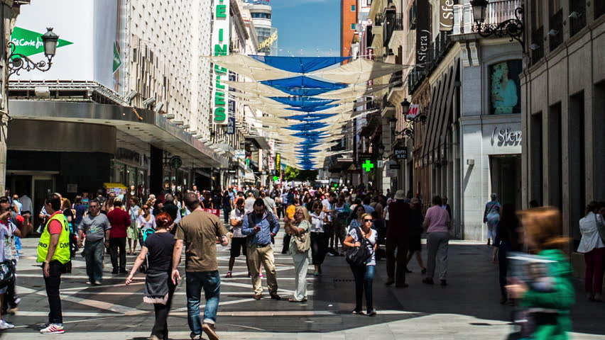 Madrid 3rd june daytime time lapse of busy madrid for Puerta del sol 9 madrid
