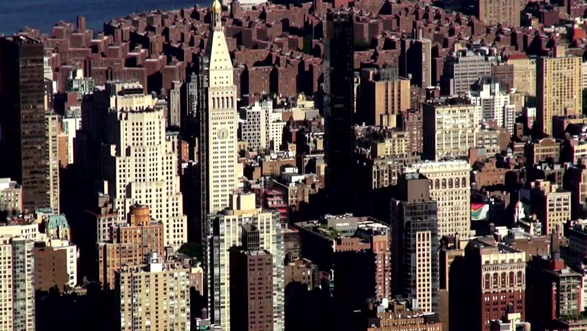 Buildings, Aerial, Urban, New York City, Manhattan, River | Shutterstock HD Video #6576803