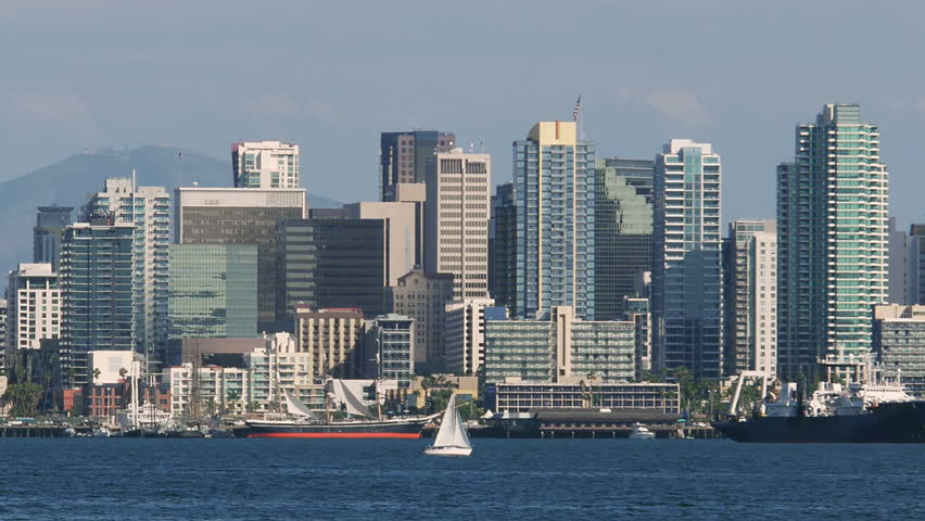 San Diego Bay With Downtown Skyline and Ships