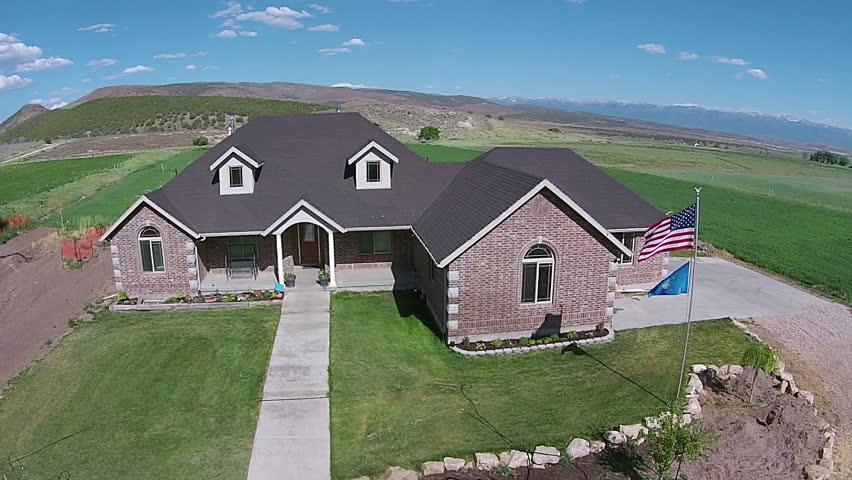 Fountain Green Utah Jun 2014 Aerial Beautiful Rural