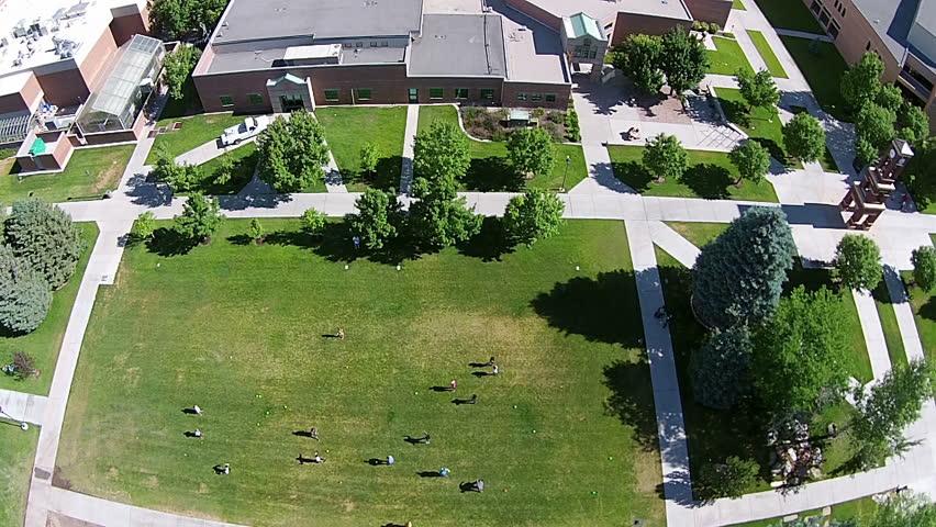 Aerial Snow College Campus Ephraim Utah Airborne Of