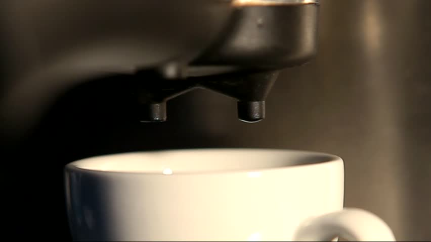 espresso preparation in coffee machine... - HD stock footage clip