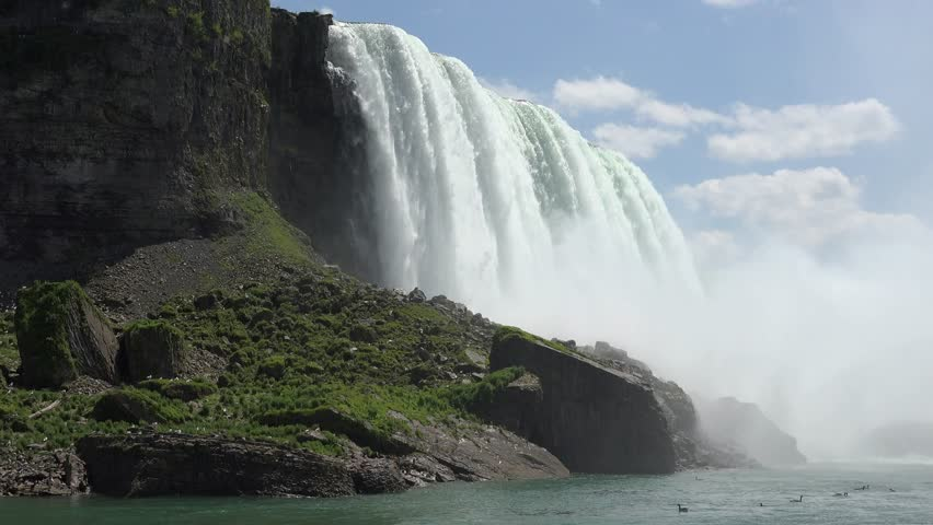 Water Falls, Cascades, Nature, Niagara Falls - 4K stock video clip
