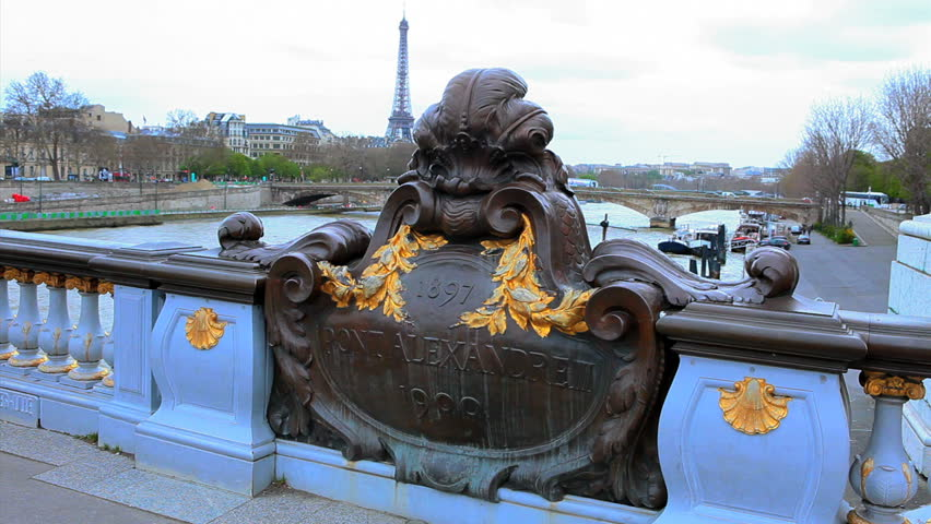 Paris, Pont Alexandre III, France - HD stock video clip