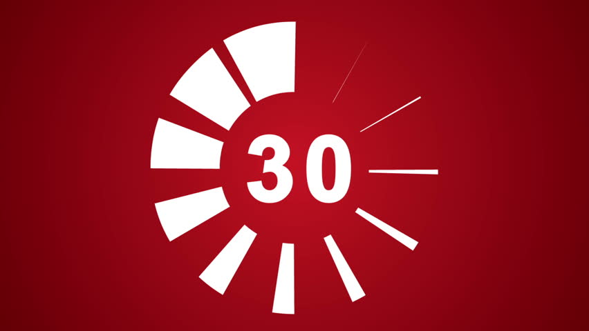30 Seconds Countdown Stock Footage Video 7023070 ...