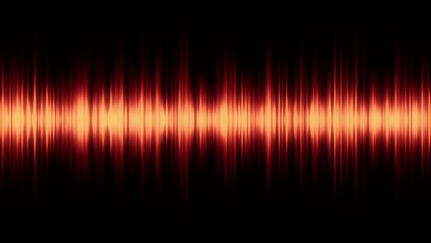 spectrum analyser HD stock footage. A visual display of sound as seen on a sound mixer or amplifier in Orange.
