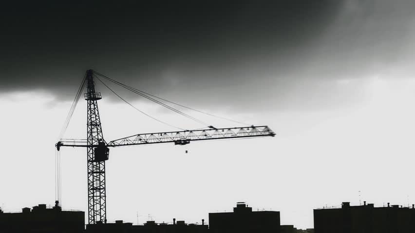 Building Crane Hd Stock Footage Clip