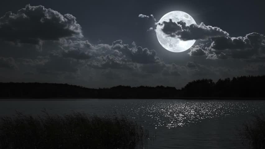 original landscape moon night - photo #8
