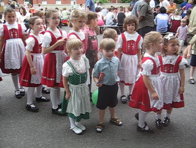german children in ethnic outfits - SD stock footage clip