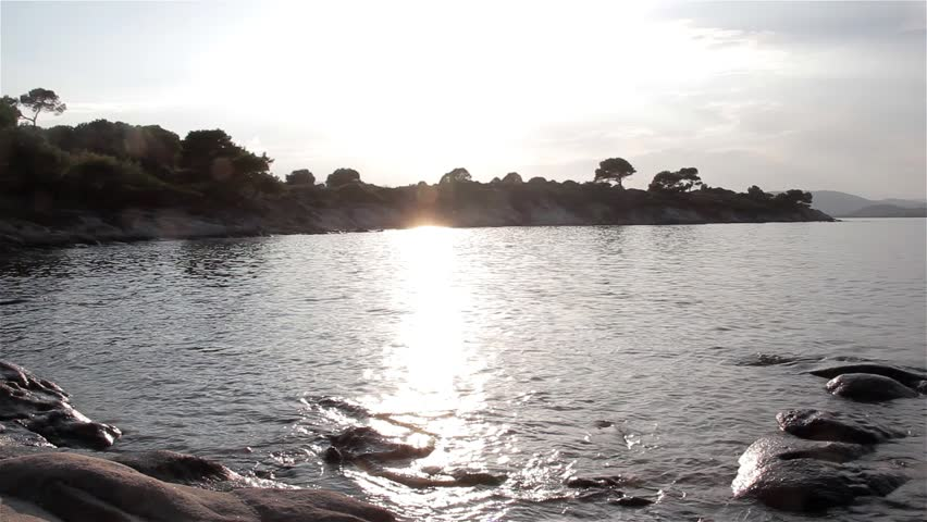 A sunny beach.