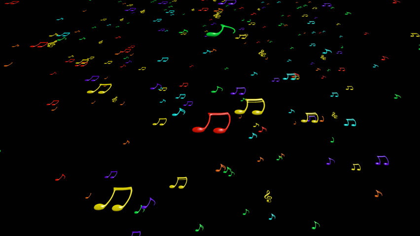 3d Colorful Music Notes Wallpaper: Animated Falling Colorful 3d Music Notes In 4k