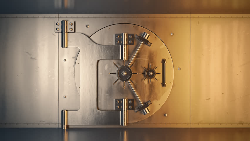 01807 Opening Of The Vault Door In Bank