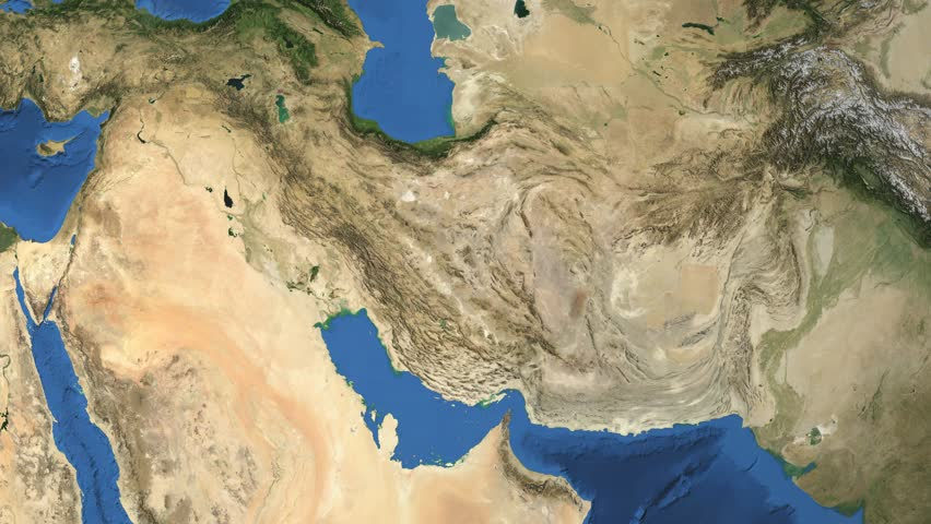 """Iran. 3d earth in space - zoom in on Iran contoured. """"Elements of this image furnished by NASA"""""""