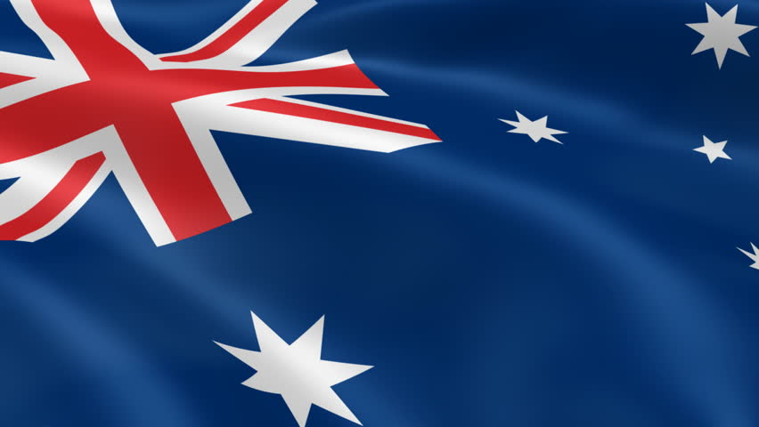 Australian flag in the wind. Part of a series. - HD stock video clip