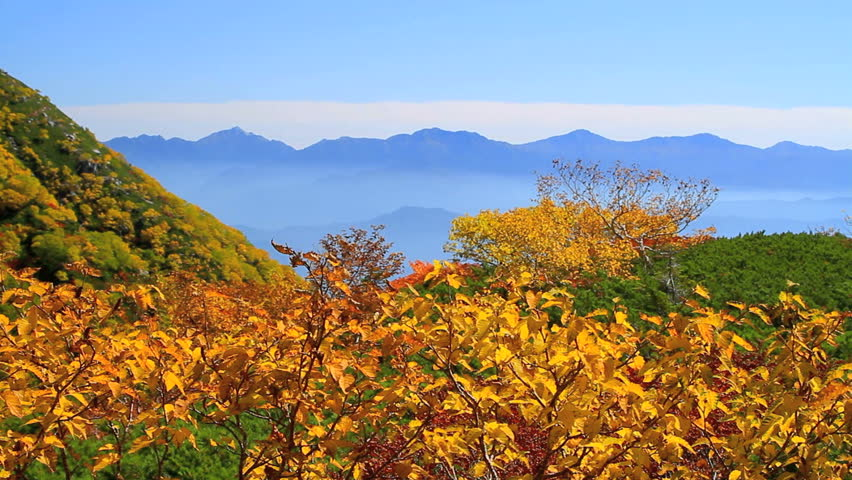 Autumn in the Central Alps, Japan.