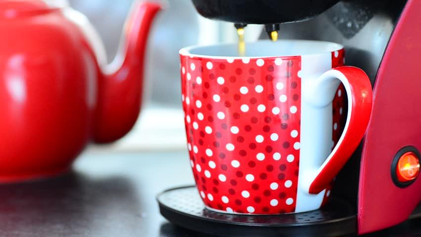 Fresh coffee percolator - HD stock footage clip