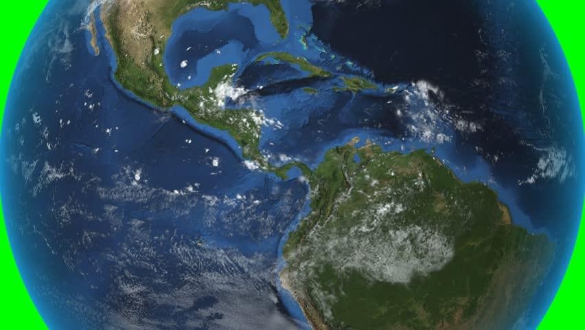 Costa Rica. Zoom in on Costa Rica contoured on green.