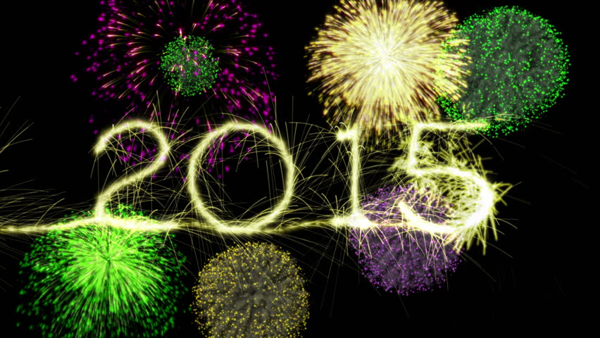 New Years Eve Sparkler Countdown to 2015. Last six seconds is a loop of fireworks going off. Happy New Year written by a sparkler is also available in my portfolio. In 4K Ultra HD, and HD 1080. - 4K stock video clip