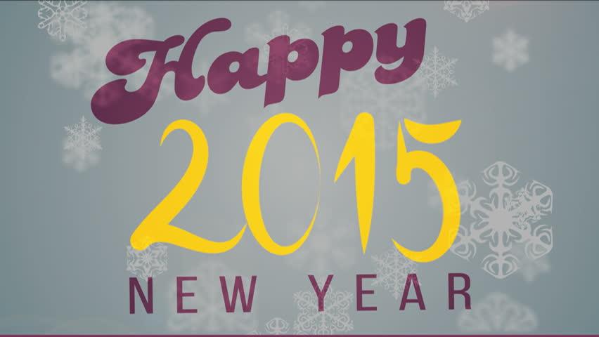 Happy New Year 2015 celebration background animated.