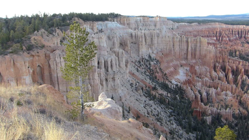 Panning Shot of Bryce Canyon National Park in Utah, USA.