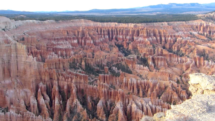 Panning Shot of Bryce Canyon National Park in Utah, USA.