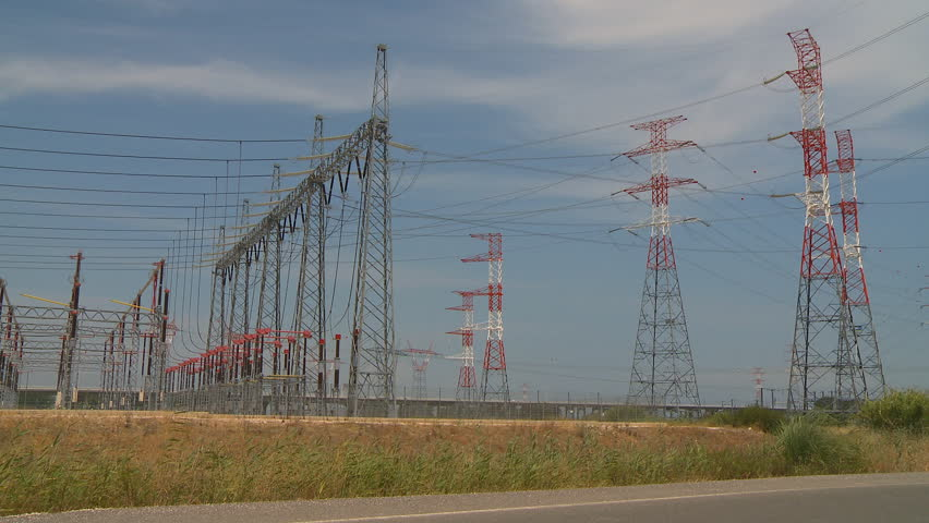 Large power station  - HD stock video clip