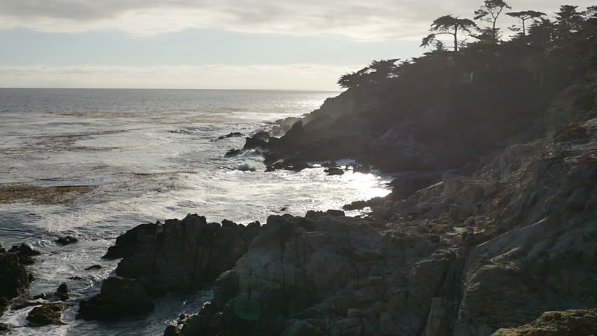 17 Mile Drive Slow Motion 06 California Coastline 96fps - HD stock video clip