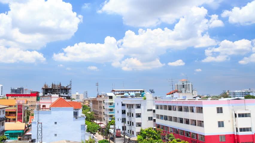 TL HD : Cloud and blue sky in urban scene