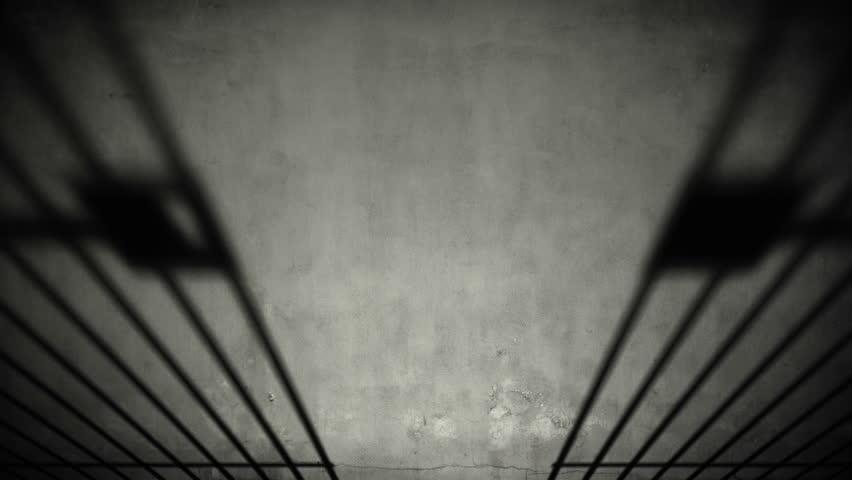 Jail Cell Door Closing Close Up Stock Footage Video ...