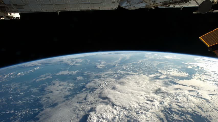 View of the planet Earth from the cosmos more exactly from the International Space Station.