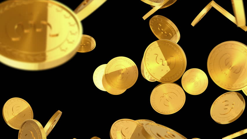 gold coins black background - photo #1
