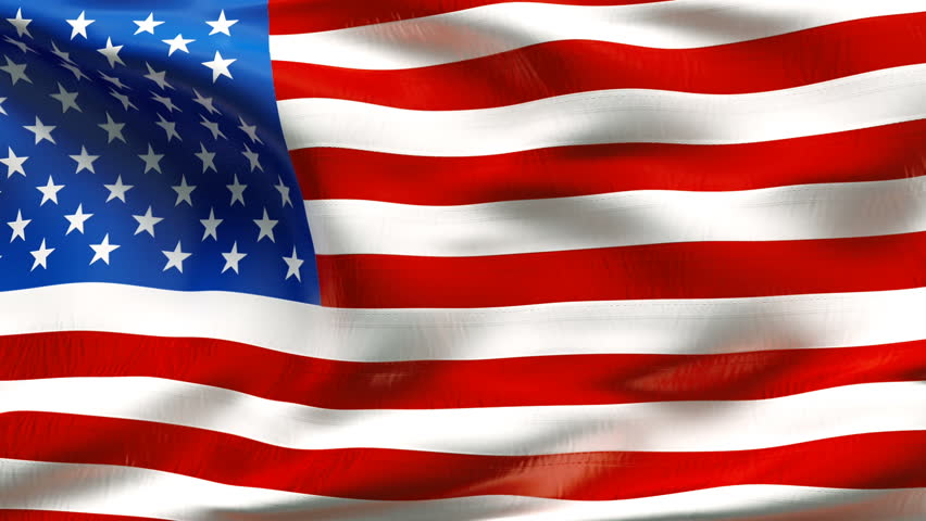 Creased textured UNITED STATES  flag in slow motion with visible wrinkles and seams - HD stock footage clip