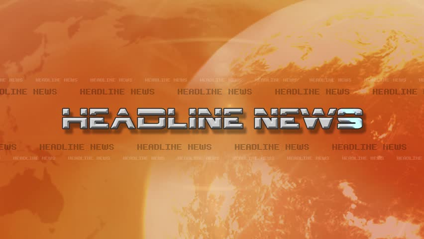 4K High Res bumper animation of Headline News. Lens Flare ...