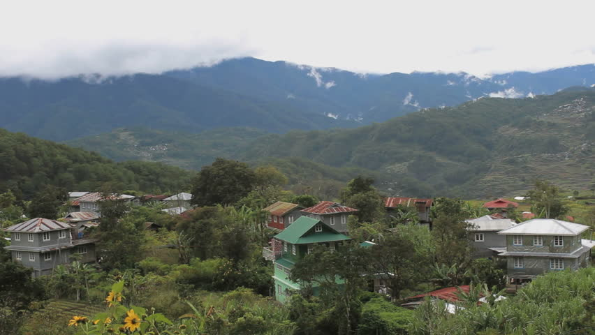 Primitive town in the North of the Philippines