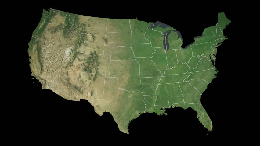 Harrisburg (IL) United States  city pictures gallery : United States with Alaska . Zoom in on United States contoured ...