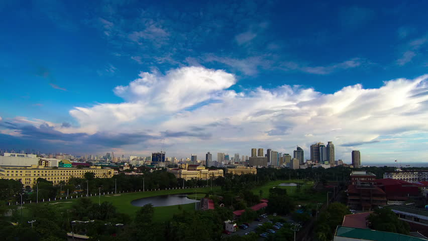 Philippines Manila skyline sunset time lapse
