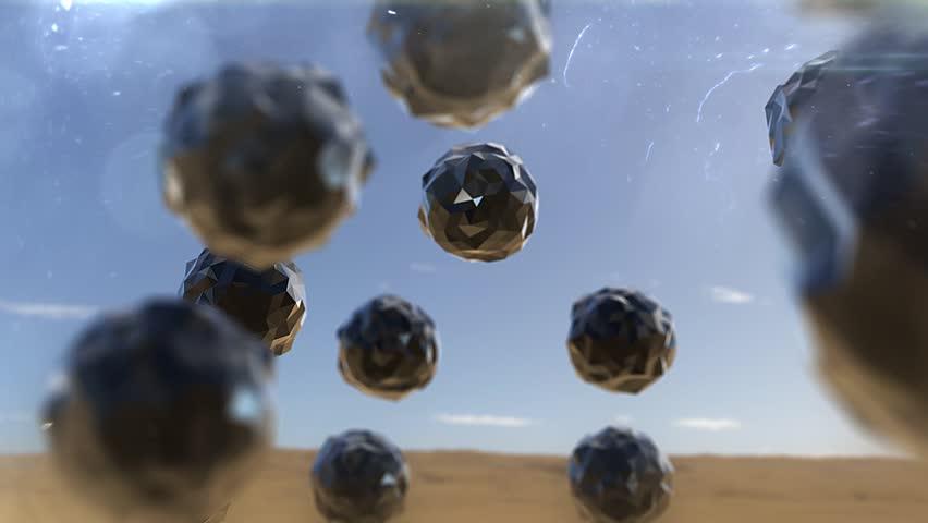 Flat surface flying balls looped HD