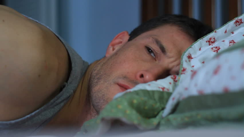 Full HD Stock video of sleepless man suffering from insomnia. - HD stock video clip