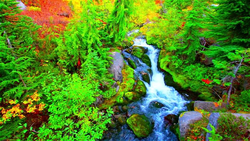 Cascades In Glacier National Park, Montana