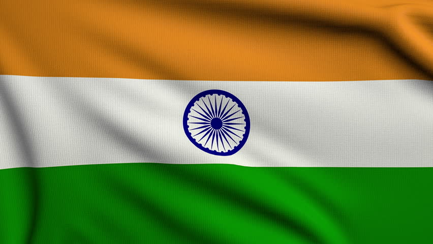 Indian Flag Animated: Indian National Flag Waving In The Wind, National Holiday