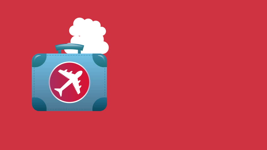 Bag and travel, Video animation, HD 1080