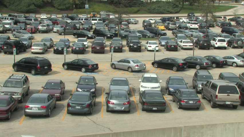 Parking Lot Time Lapse - HD stock footage clip