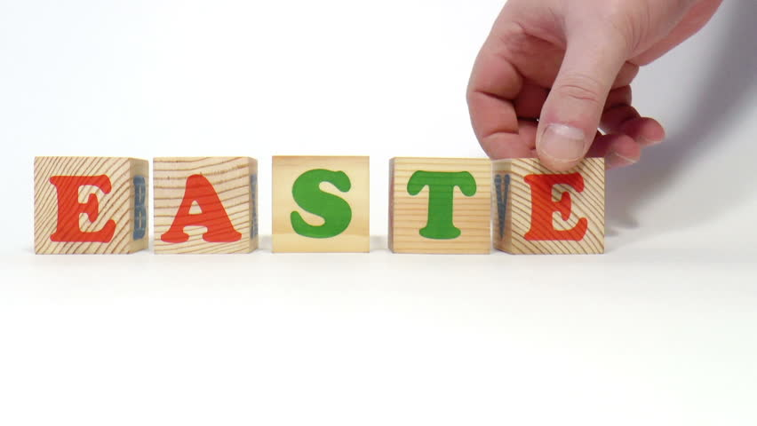 The video shows easter word built of wooden blocks | Shutterstock HD Video #9137087